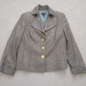 ESCADA Neiman Marcus silk wool metallic tweed